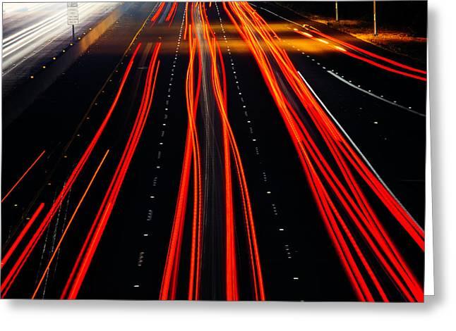 Freeway Lights Greeting Card