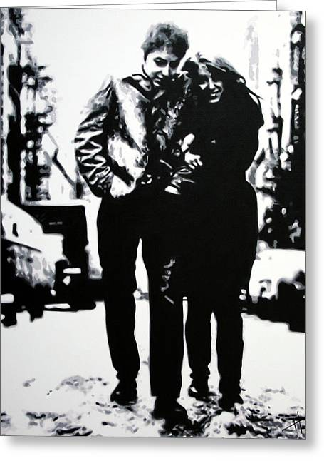 Freewheelin Greeting Card