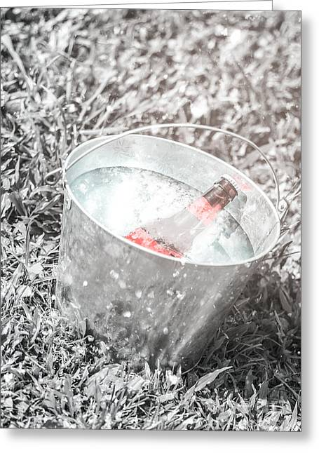 Freezing Cold Pale Ale Beer At Winter Festival Greeting Card