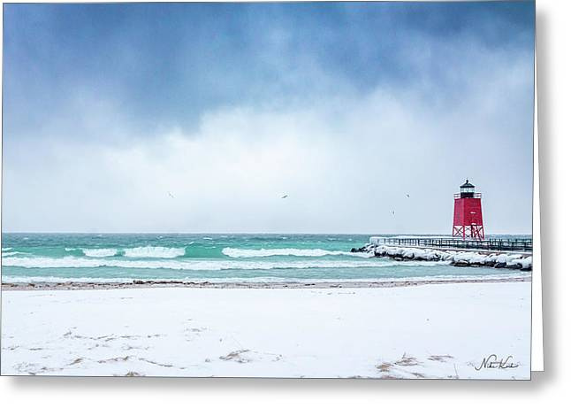 Freezing Storm Greeting Card
