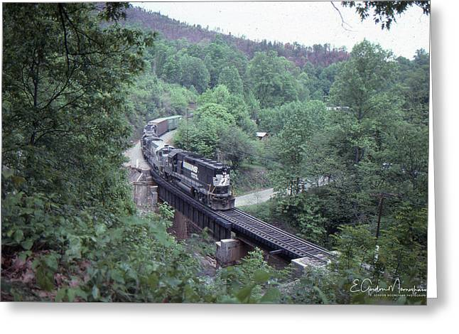 Freight At Mill Creek Greeting Card
