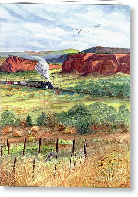 Freight Train From Gallup Greeting Card