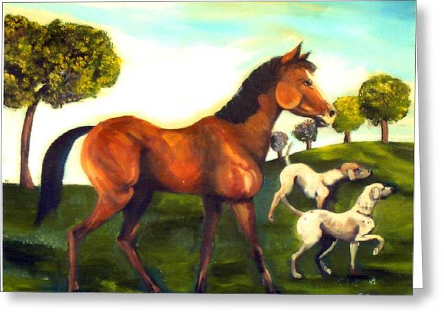 Freinds Greeting Card by Leslie Spurlock