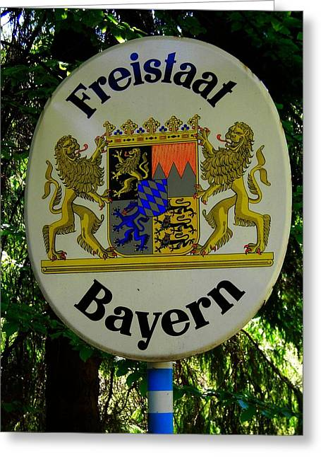 Freistaat Bayern Greeting Card by Juergen Weiss