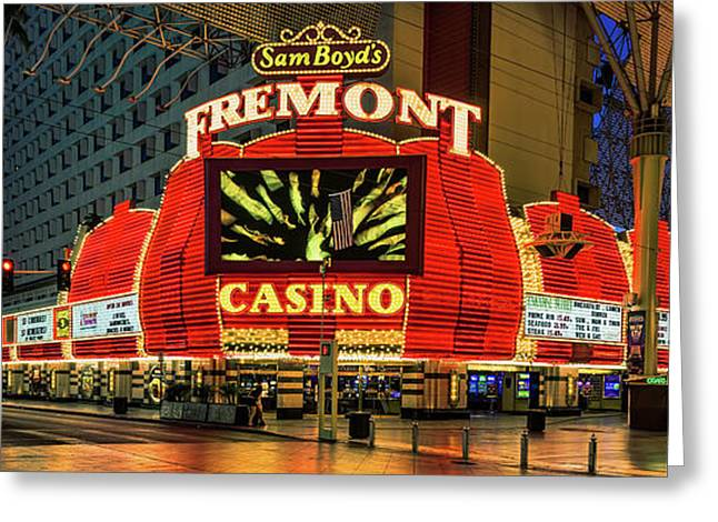 Fremont Casino Entrance Greeting Card by Aloha Art