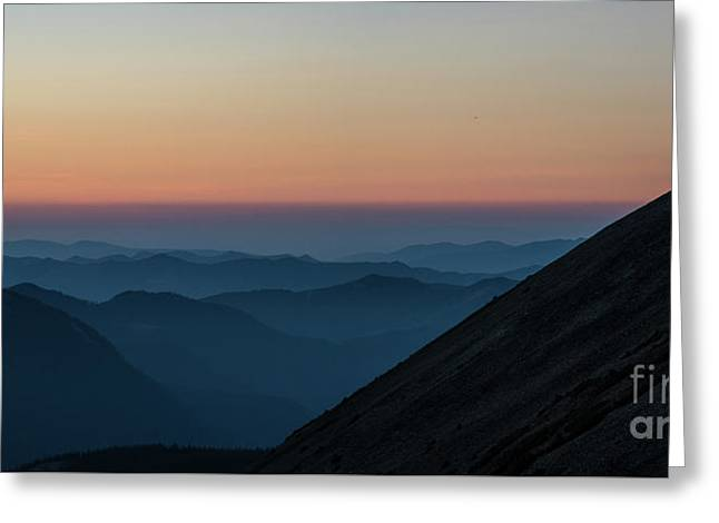 Fremont Lookout Sunset Layers Pano Greeting Card by Mike Reid