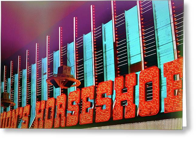 Fremont Street Greeting Card by JAMART Photography