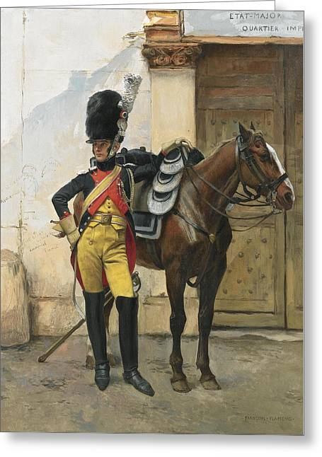 French An Elite Soldier Of The Imperial Guard Greeting Card by MotionAge Designs