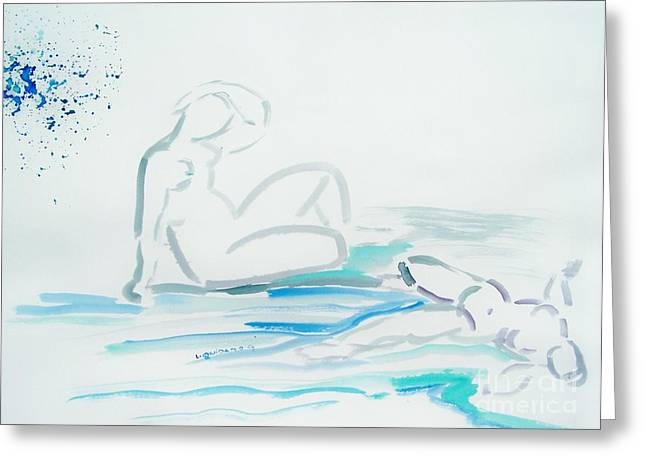 French Bathers Greeting Card by Geraldine Liquidano