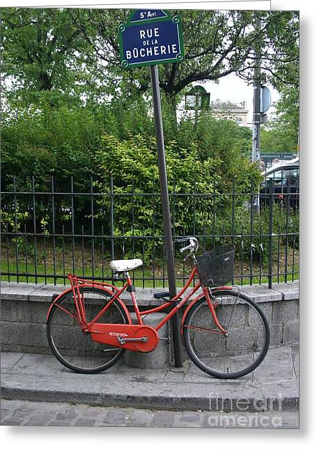 French Bike And Street Greeting Card by Dennis Curry