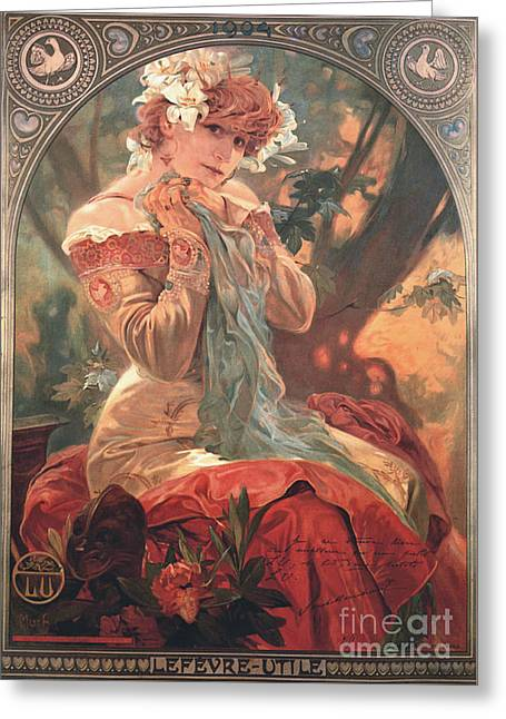 French Biscuit Ad 1904 Greeting Card