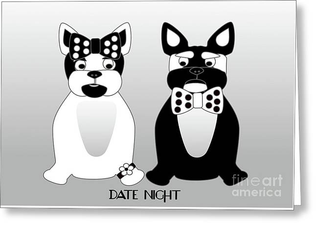 French Bulldog Date Night  Greeting Card