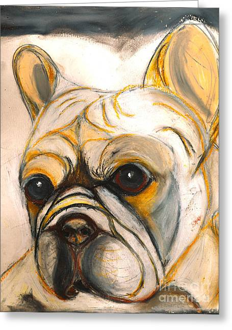 French Bulldog Drawing Greeting Card by Ania M Milo