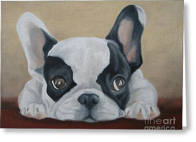 Noewi Greeting Cards - French Bulldog Greeting Card by Jindra Noewi