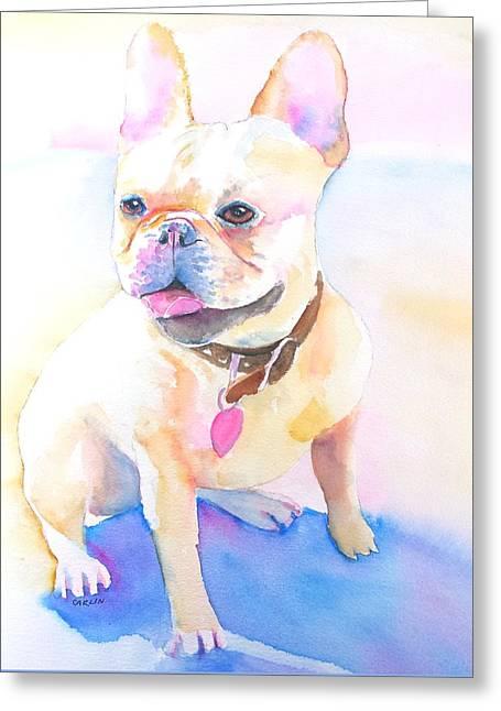 French Bulldog Watercolor Greeting Card
