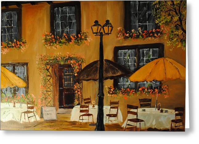 French Cafe Greeting Card by James Higgins