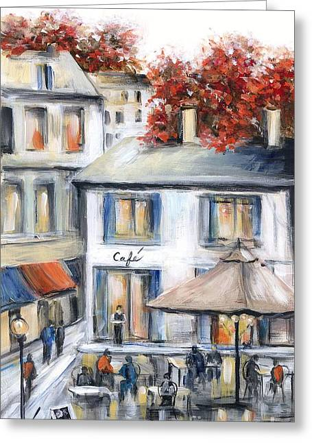 French Cafe Greeting Card