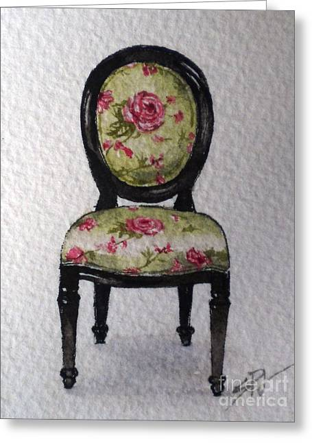 French Chair Greeting Card by Sandra Phryce-Jones