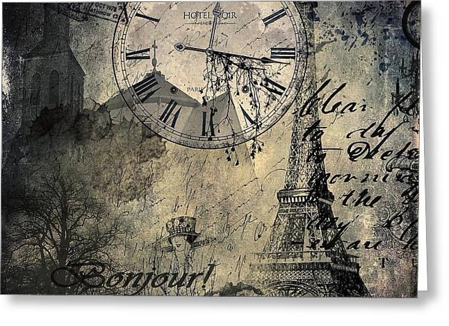 French Collage  Greeting Card