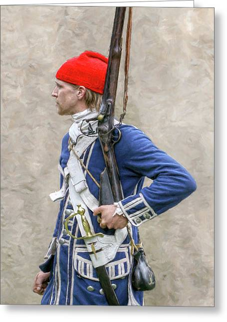 French Colonial Soldier French And Indian War  Greeting Card by Randy Steele