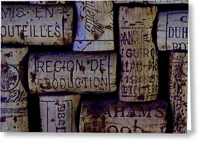 French Corks Greeting Card by Anthony Jones
