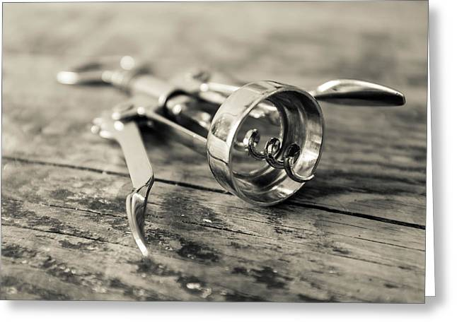 French Corkscrew Greeting Card by Georgia Fowler