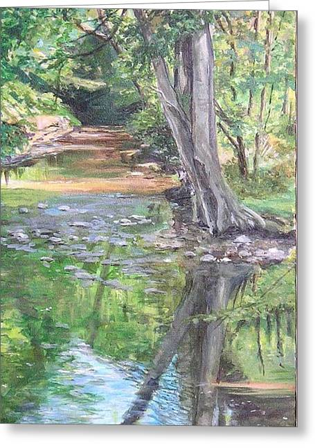 French Creek Greeting Card by Denise Ivey Telep