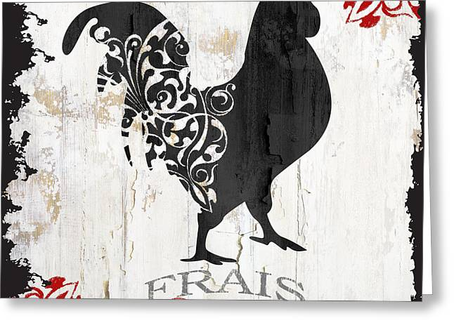 French Farm Sign Rooster Greeting Card