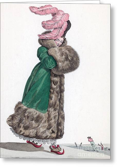 French Fashion, 1810 Greeting Card by Science Source