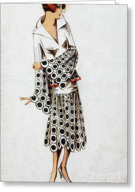 French Fashion, 1925 Greeting Card by Science Source