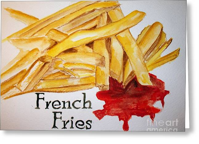 French Fries Greeting Card by Carol Grimes