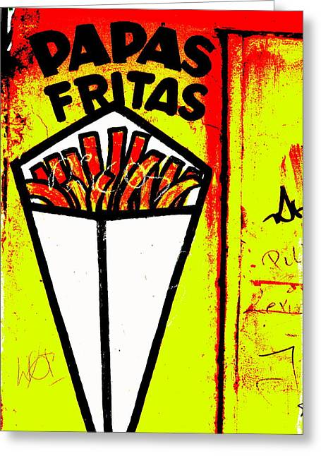 French Fries Santiago Style  Greeting Card