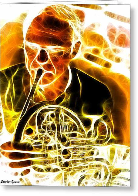 French Horn Greeting Card by Stephen Younts