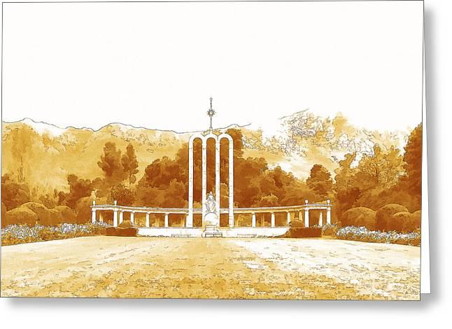 French Huguenot Monument In Franschhoek  Greeting Card by Jan Hattingh