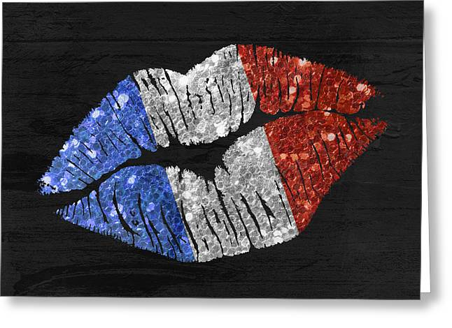 French Kiss Greeting Card by Mindy Sommers