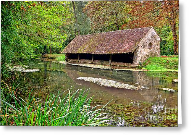 French Lavoir Greeting Card
