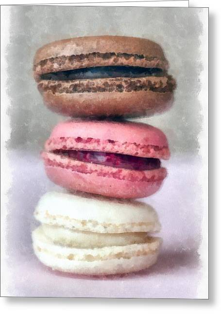 French Macaron Pastry Greeting Card by Edward Fielding