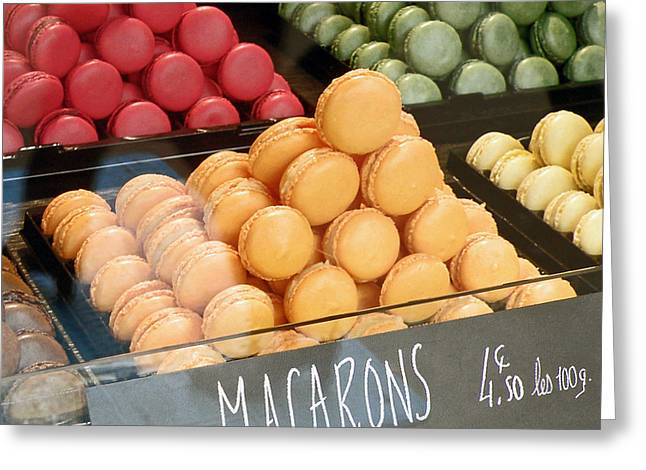 French Macarons Greeting Card by Jean Hall