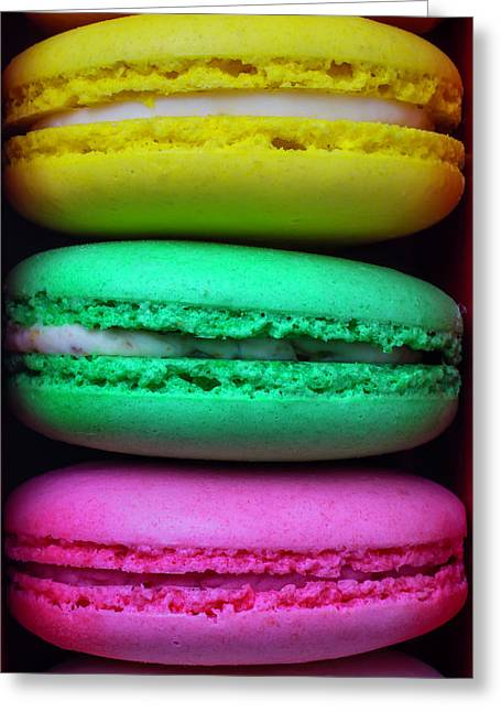 French Macaroons Greeting Card by Garry Gay