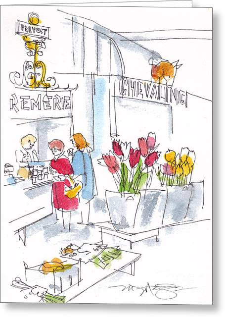 French Market Day Greeting Card