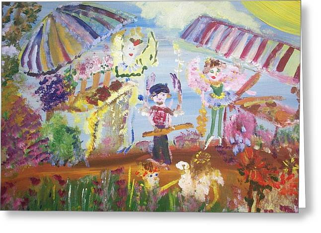 Greeting Card featuring the painting French Market Fairies by Judith Desrosiers