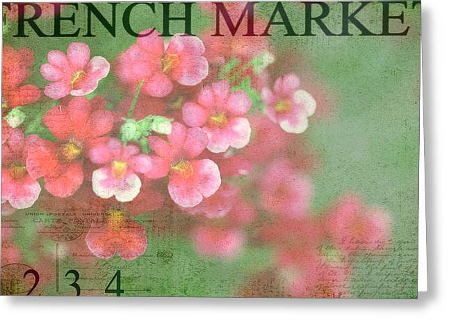 French Market Series I Greeting Card by Rebecca Cozart