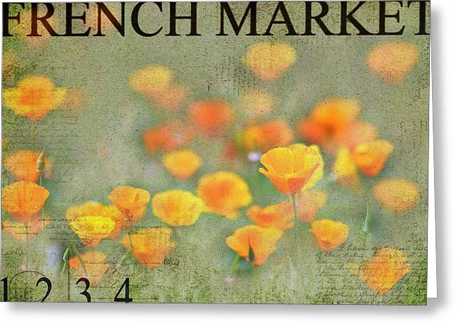 French Market Series Q Greeting Card by Rebecca Cozart