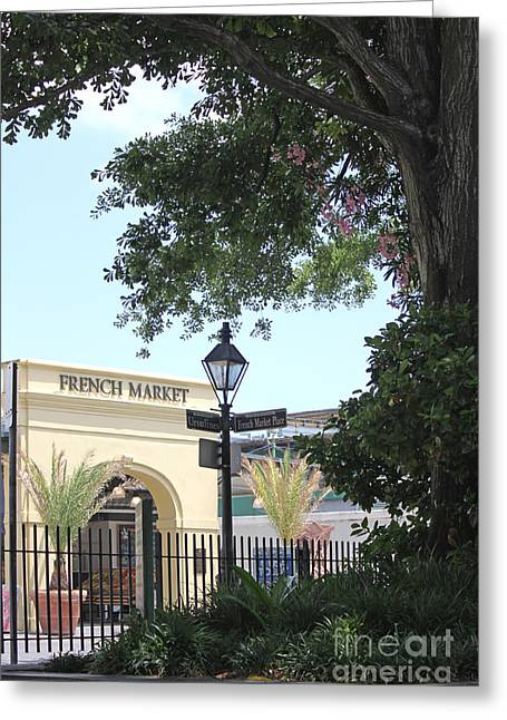 Greeting Card featuring the photograph French Market by Todd Blanchard