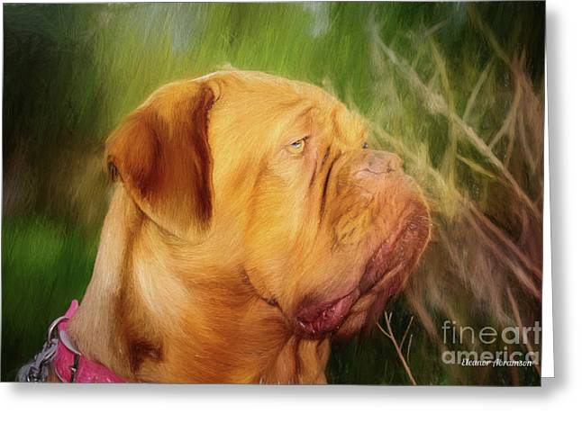 French Mastiff  Greeting Card by Eleanor Abramson