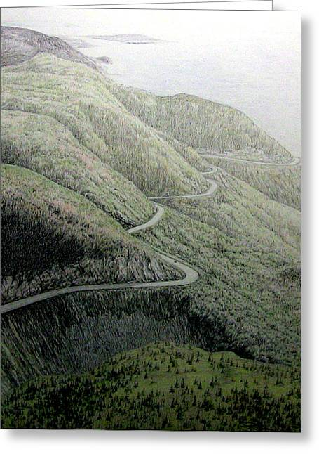 French Mountain At 400 Metres Greeting Card by Roger Beaudry