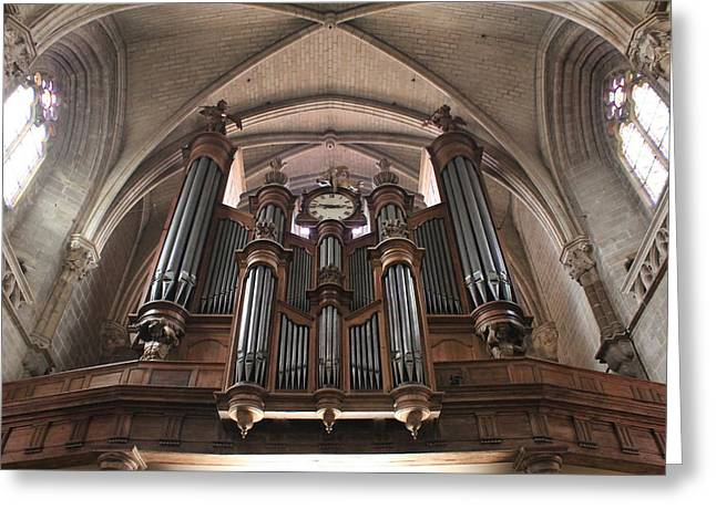 French Organ Greeting Card