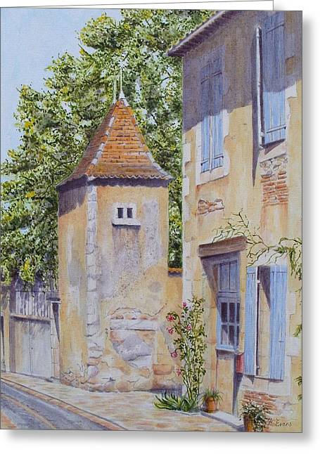French Pigeonnier Greeting Card by Frances Evans