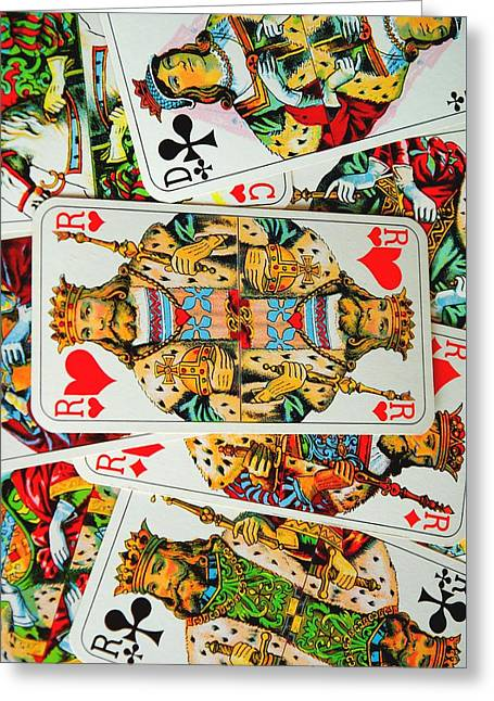 French Playing Cards Greeting Card