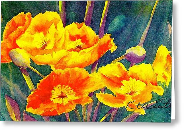 French Poppies Greeting Card by KC Winters